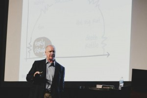 Les McKeown keynoting at Plywood Presents